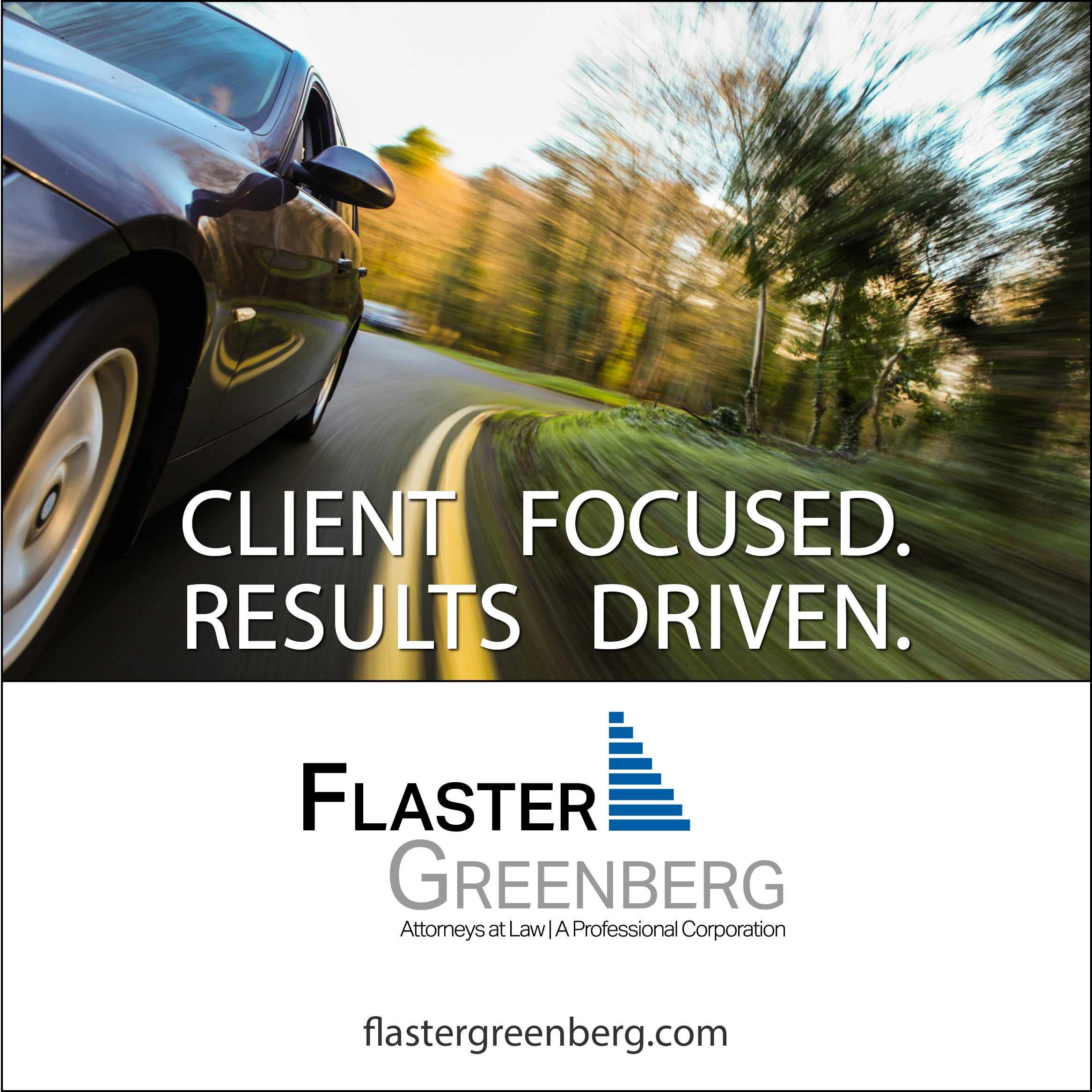 ACCGP's Flaster Greenberg 2019 Sponsor Ad