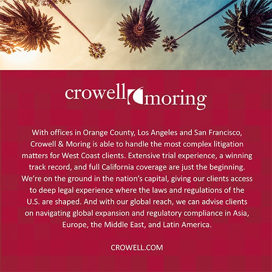 SoCal's Crowell & Moring 2019 560x560 Sponsor Ad
