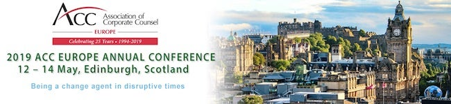 2019 ACC Europe Annual Conference 12-14 May Edinburgh, Scotland Being a change agent in disruptive times