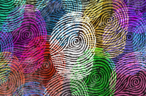 Stylized image of fingerprints