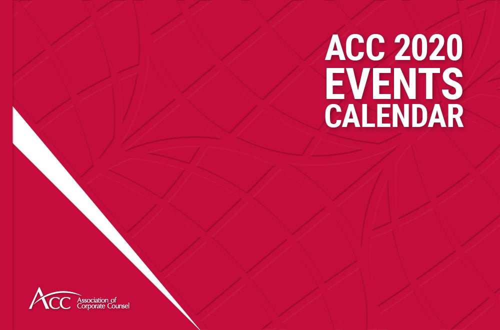 Cover design for the 2020 ACC Events Calendar