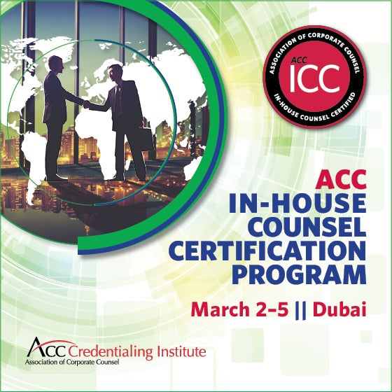 ACC Dubai In-House Counsel Certification Program