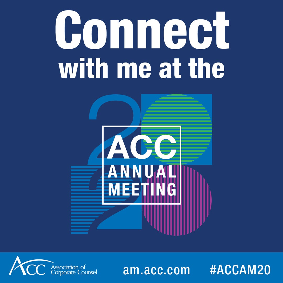 Connect with me at the 2020 ACC Annual Meeting ACC logo am.acc.com #ACCAM20