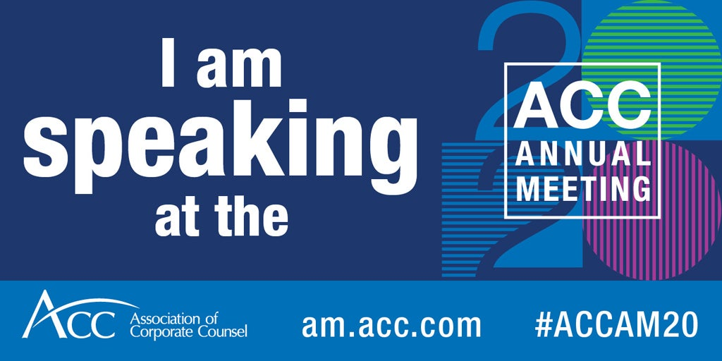 I am speaking at the 2020 ACC Annual Meeting ACC logo am.acc.com #ACCAM20
