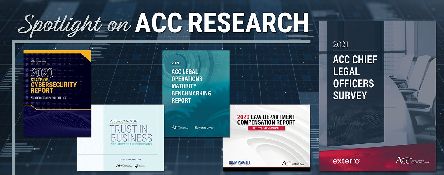 ACC Research and Benchmarking - 2021 CLO Survey
