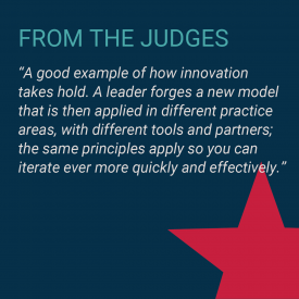 2020 Value Champions 7-Eleven and Perkins Coie Judges Quote